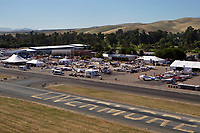 aerial photograph of the Aircraft Owners and Pilots Association (AOPA) Fly In June 21-22, 2019 at the Livermore Municipal Airport (LVK), Livermore, Alameda County, CA