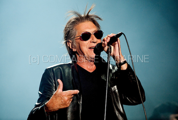 French singer Jacques Dutronc in concert at the Francofolies festival in Spa (Belgium, 22/07/2010)