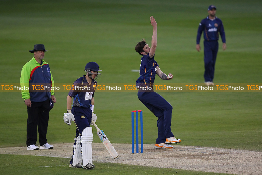 Reece Topley in bowling action for Essex - Essex Eagles vs Shepherd Neame Essex League XI - Twenty 20 Cricket at the Essex County Ground, Chelmsford - 15/05/14 - MANDATORY CREDIT: Gavin Ellis/TGSPHOTO - Self billing applies where appropriate - 0845 094 6026 - contact@tgsphoto.co.uk - NO UNPAID USE