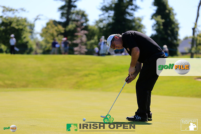 Marcel Siem (GER) team during Wednesday's Pro-Am of the 2014 Irish Open held at Fota Island Resort, Cork, Ireland. 18th June 2014.<br /> Picture: Eoin Clarke www.golffile.ie