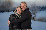 Charles Wohlforth and girlfriend at Westchester Lagoon. December 27, 2017.