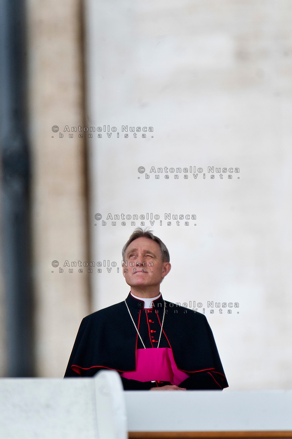 L'arcivescovo e Prefetto della Casa Pontificia Georg Gänswein
