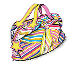 Illustration of colorful bag over white background