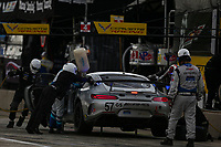 #57 Winward Racing / HTP Motorsport Mercedes-AMG, GS: Bryce Ward, Christian Hohenadel, Pit Stop