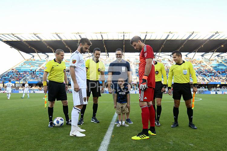 San Jose, CA - Saturday July 28, 2018: Andrew Tarbell during a Major League Soccer (MLS) match between the San Jose Earthquakes and Real Salt Lake at Avaya Stadium.