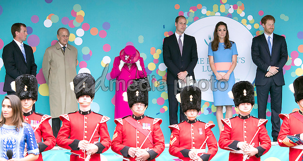 12 June 2016 - London, England - Royal Family. The Patrons Lunch 2016 during celebrations for the Queens 90th Birthday held at The Mall London. Photo Credit: ALPR/AdMedia