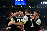 Paulo Dybala of Juventus celebrates with team mates after scoring the goal of 1-0 for his side on free kick <br /> Torino 26/11/2019 Juventus Stadium <br /> Football Champions League 2019//2020 <br /> Group Stage Group D <br /> Juventus - Atletico Madrid <br /> Photo Andrea Staccioli / Insidefoto