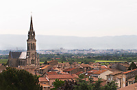 church and village cornas rhone france