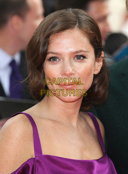 Anna Friel.'The Amazing Spider-Man' UK film premiere, Odeon Leicester Square cinema, London, England..June 18th, 2012.headshot portrait purple silk satin straps.CAP/BEL.©Tom Belcher/Capital Pictures.