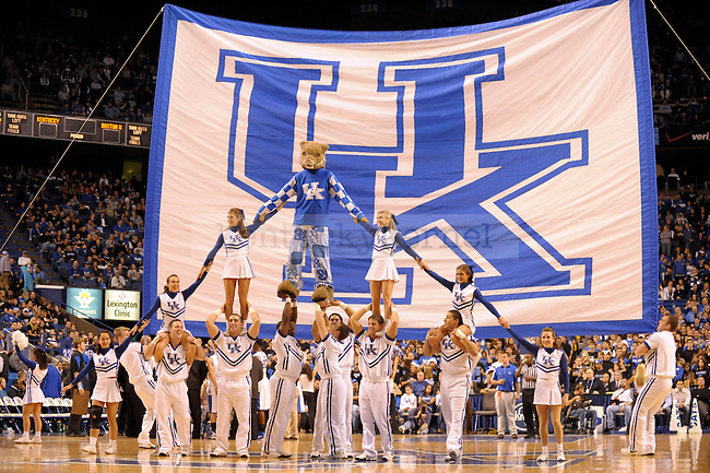 UK cheerleaders during the second half of the University of Kentucky's basketball game against Boston at Rupp Arena in Lexington, Ky., on 11/30/10. UK won the game 91-57. Photo by Mike Weaver | Staff