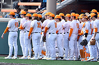 The Tennessee Volunteers before the game against the Western Illinois Leathernecks at Lindsey Nelson Stadium on February 15, 2020 in Knoxville, Tennessee. The Volunteers defeated Leathernecks 19-0. (Tony Farlow/Four Seam Images)