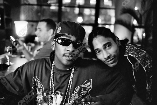 Krayzie Bone and Layzie Bone, members from the group Bone Thugs-n-Harmony at a hotel bar in St. Louis, Missouri, USA, September 2007
