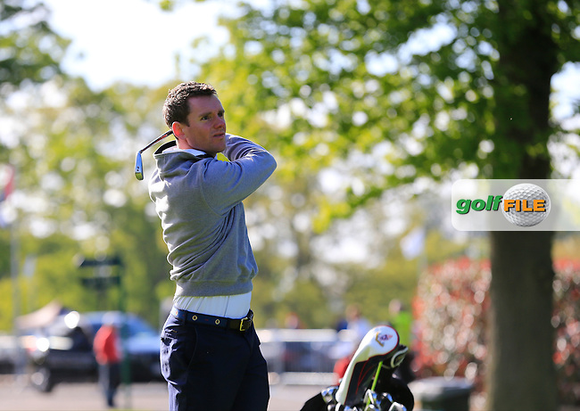 Gavin Moynihan (IRL) team in action during Wednesday's Pro-Am of the 2016 Dubai Duty Free Irish Open hosted by Rory Foundation held at the K Club, Straffan, Co.Kildare, Ireland. 18th May 2016.<br />