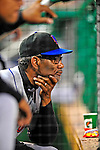 6 June 2009: New York Mets' Manager Jerry Manuel watches his team from the dugout during a game against the Washington Nationals at Nationals Park in Washington, DC. The Mets fell to the Nationals 7-1 as Nats' starting pitcher John Lannan tossed his first career complete-game win. Mandatory Credit: Ed Wolfstein Photo