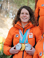 OLYMPIC GAMES: PYEONGCHANG: 25-02-2018, Gangneung, Olympic medalists TeamNL photoshoot, Ireen Wust, ©photo Martin de Jong