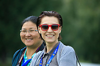 Spectators during the third round of the Kazakhstan Open presented by ERG played at Zhailjau Golf Resort, Almaty, Kazakhstan. 15/09/2018<br /> Picture: Golffile | Phil Inglis<br /> <br /> All photo usage must carry mandatory copyright credit (&copy; Golffile | Phil Inglis)