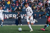 FOXBOROUGH, MA - MARCH 7: Alvaro Medran #10 of Chicago Fire controls the ball during a game between Chicago Fire and New England Revolution at Gillette Stadium on March 7, 2020 in Foxborough, Massachusetts.