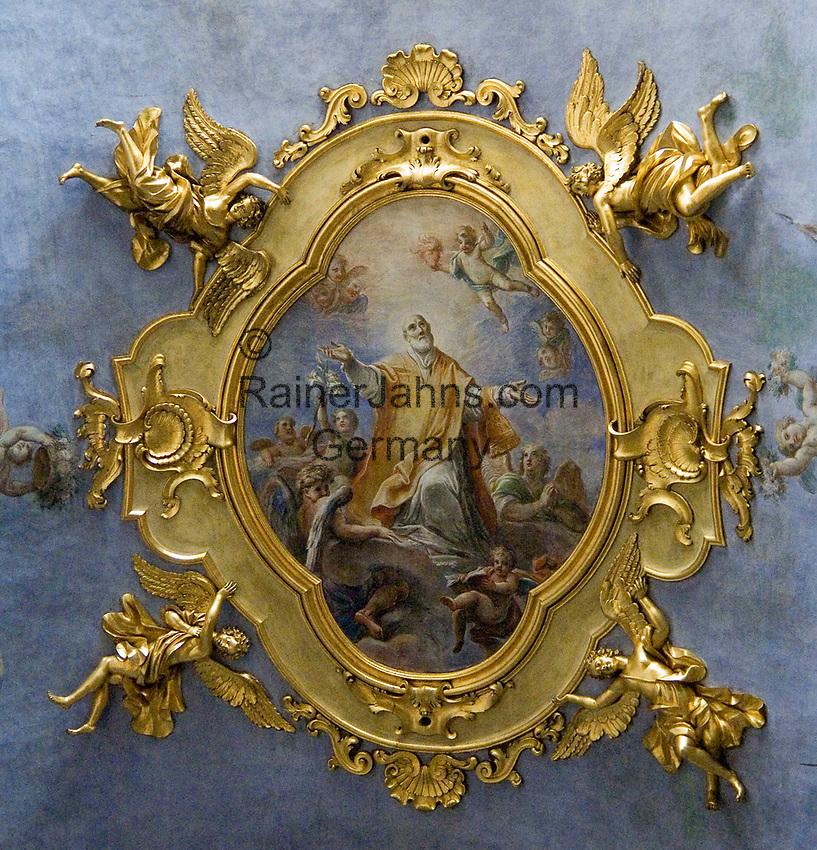 ITA, Italien, Umbrien, Assisi: Fresko - Deckenmalerei   ITA, Italy, Umbria, Assisi: fresco - mural painting