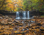 Ricketts Glen State Park, PA: Oneida Falls on Kitchen Creek in autumn
