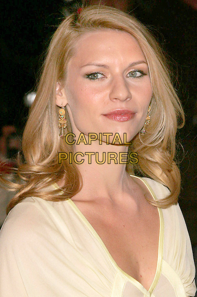 CLAIRE DANES.Versace Store Re-Opening Party at Versace 5th Avenue StoreNew York, NY, USA..February 7th, 2006.Photo: Jackson Lee/Admedia/Capital Pictures.Ref: JL/ADM.headshot portrait dangling gold earrings.www.capitalpictures.com.sales@capitalpictures.com.© Capital Pictures.