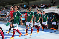 Diego Lainez Leyva (No 20) of Mexico U21's walks out onto the pitch ahead of kick-off during Mexico Under-21 vs Turkey Under-21, Tournoi Maurice Revello Football at Stade de Lattre-de-Tassigny on 6th June 2018