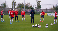 20191101 - Tubize: Norwegian players pictured during the warming up of the international friendly match between Red Flames U16 (Belgium) and Norway U16 on 1 November 2019 at Belgian Football Centre, Tubize. PHOTO:  SPORTPIX.BE | SEVIL OKTEM