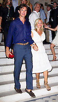 Prince Pavlos, and Princess Marie Chantel attend a Cocktail Party at The Poseidonion Hotel, in Spetses, Greece, on the eve of the Wedding of Prince Nikolaos of Greece to Tatiana Blatnik.