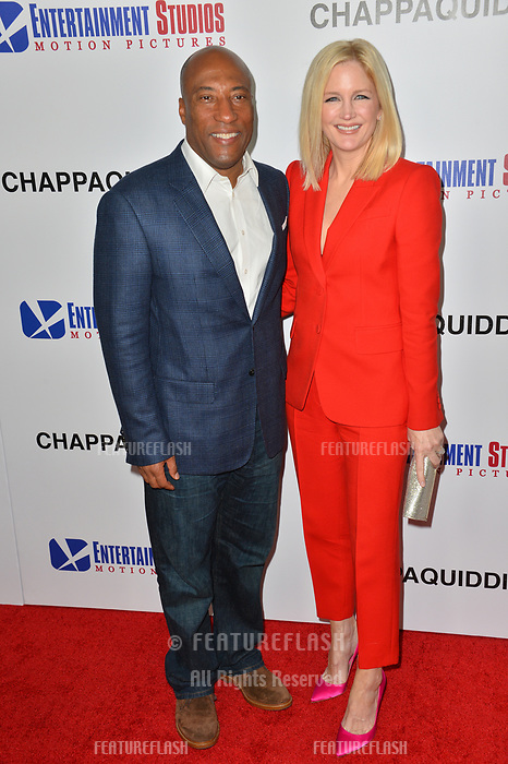 Byron Allen &amp; Jennifer Lucas at the premiere for &quot;Chappaquiddick&quot; at the Samuel Goldwyn Theatre, Los Angeles, USA 28 March 2018<br /> Picture: Paul Smith/Featureflash/SilverHub 0208 004 5359 sales@silverhubmedia.com