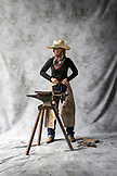 USA, Oregon, Enterprise, portrait of Cowgirl Adele Nash at the Snyder Ranch located between Enterprise and Joseph in Northeast Oregon
