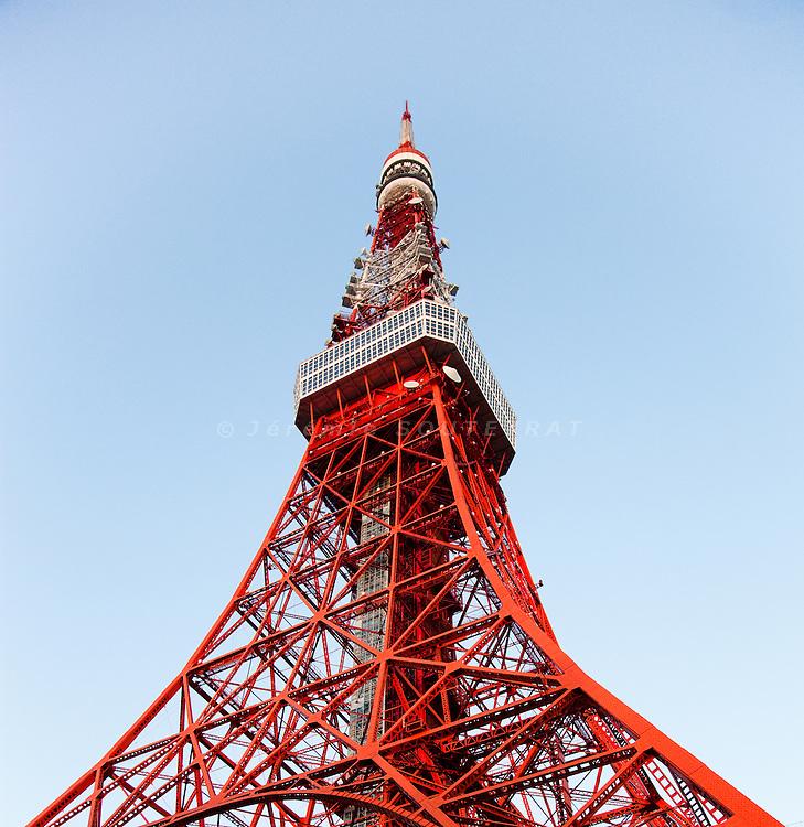 Tokyo, July 27 2010 - Tokyo tower, second highest building in Japan.