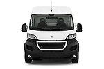 Car photography straight front view of a 2015 Peugeot BOXER L4H2 4 Door Cargo Van Front View