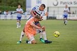 2018-06-23 / Voetbal / seizoen 2018 -2019 / KSK Heist - RSC Anderlecht / Jason Adesanya (KSK Heist) achteraan met voor hem Kobe Cools  ,Foto: Mpics.be