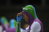 SCHAATSEN: HEERENVEEN: 25-10-2014, IJsstadion Thialf, Trainingswedstrijd schaatsen, Daidai Ntab, ©foto Martin de Jong
