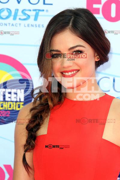 UNIVERSAL CITY, CA - JULY 22: Lucy Hale at the 2012 Teen Choice Awards at Gibson Amphitheatre on July 22, 2012 in Universal City, California. &copy; mpi28/MediaPunch Inc. /NortePhoto.com*<br />  **CREDITO*OBLIGATORIO** *No*Venta*A*Terceros*<br /> *No*Sale*So*third* ***No*Se*Permite*Hacer Archivo***No*Sale*So*third*&Acirc;&copy;Imagenes*