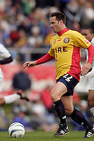 Hall of Fame inductee Eric Wynalda got to play a few minutes in the second half for the Fire. The MetroStars defeated the Chicago Fire 2-0 during an exhibition game on Monday October 11, 2004 at At-A-Glance Field at the National Soccer Hall of Fame and Museum, Oneonta, NY..