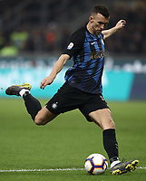 Calcio, Serie A: AC Milan - Inter Milan, Giuseppe Meazza (San Siro) stadium, Milan on 17 March 2019.  <br /> Inter's Ivan Perisic in action during the Italian Serie A football match between Milan and Inter Milan at Giuseppe Meazza stadium, on 17 March 2019. <br /> UPDATE IMAGES PRESS/Isabella Bonotto