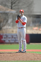 University of Houston Cougers pitcher Taylor Cobb (43) during game game 1 of a double header against the Rutgers University Scarlet Knights at Bainton Field on April 5, 2014 in Piscataway, New Jersey. Rutgers defeated Houston 7-3.      <br />  (Tomasso DeRosa/ Four Seam Images)