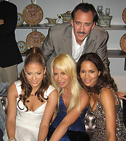 JENNIFER LOPEZ HALLE BERRY DONATELLA VERSACE NICHOLAS CAGE  2006<br /> Photo By John Barrett/PHOTOlink.net
