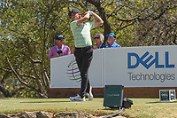 Tommy Fleetwood (ENG) watches his tee shot on 12 during round 1 of the World Golf Championships, Dell Match Play, Austin Country Club, Austin, Texas. 3/21/2018.<br /> Picture: Golffile | Ken Murray<br /> <br /> <br /> All photo usage must carry mandatory copyright credit (&copy; Golffile | Ken Murray)