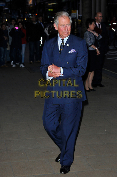 Charles, Prince of Wales, Duke of Cornwall.Wool Modern private view, La Galleria, Royal Opera Arcade, London, England..September 7th, 2011.full length blue suit royal royalty .CAP/CAS.©Bob Cass/Capital Pictures.
