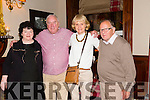 Celebrating his retirement from the HSC Kerry General is Johnny McEvoy from Hawley Park Tralee.Johnny has spent 43yrs working with the HSC.Pictured here at the Grand Hotel on Friday with  front l-r Helen Lucey, Johnny McEvoy, Margo Bolster and Terence Casey