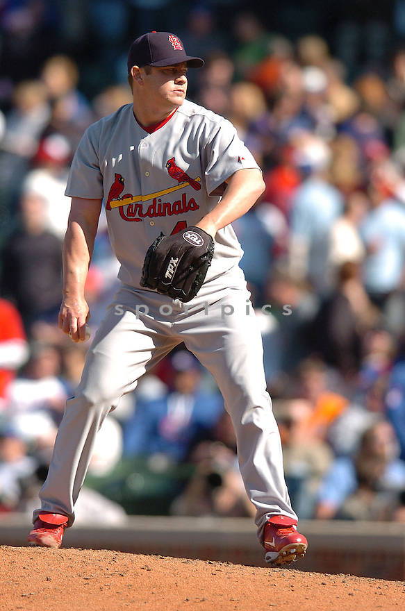 JASON ISRINGHAUSEN, of the  St. Louis Cardinals, in action during the Cardinals game against the Chicago Cubs in Chicago, IL, on April 20,  2007...Cardinals  win 2-1...DAVID DUROCHIK / SPORTPICS.