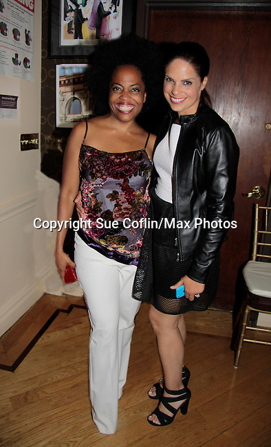 Soledad O'Brien poses with Another World Rhonda Ross sings at Hearts of Gold - 45 A Different Kind of Fund Raiser on July 10, 2014 at Manhattan Penthouse, New York City, New York. (Photo by Sue Coflin/Max Photos)