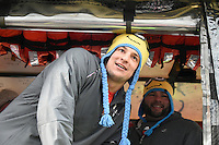 February 4, 2015 - Boston, Massachusetts, U.S. - New England Patriots tight end Rob Gronkowski (87) rides in a duck boat during a parade held in Boston to celebrate the team's victory over the Seattle Seahawks in Super Bowl XLIX. Eric Canha/CSM