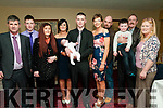 Baby Hailey O'Connor with her parents Sean & Olive O'Connor, Listowel who was christened in St. Mary's Church, Listowel by canon Declan O'Connor on Saturday last and afterwards at the Listowel Arms Hotel. L- R : John O'Connor, Ciaran O@Connor, Siobhan Walsh, Olive, Hailey & Sean O'Connor, Sinead O'Connor, Mike Walsh, Jayden O'Connor & Oliver & Helen Nash.