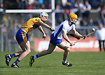Conor Cleary of Clare  in action against Tommy Ryan of Waterford during their National League game at Cusack Park. Photograph by John Kelly.