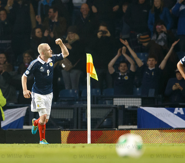 Steven Naismith celebrates his goal