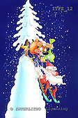 Fabrizio, Comics, CHRISTMAS SANTA, SNOWMAN, paintings, ITFZ12,#x# Weihnachten, Navidad, illustrations, pinturas