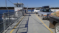 NWA Democrat-Gazette/FLIP PUTTHOFF <br /> Peel Ferry crosses Bull Shoals Lake north of Yellville on Oct. 19, 2015. The ferry is free and operates year-round.