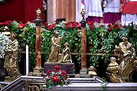 statue Saint St Peter  Saint Paul;Basilica St Peter at the Vatican;Peter;Pope Francis solemnity of Saints Peter and Paul at St Peter's basilica in Vatican.June 29,2016